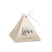 Pyramid Favor Box - Gold Shimmer - Personalized
